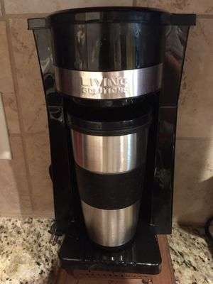 Living Solutions single cup coffee maker for Sale in Fort Worth, TX
