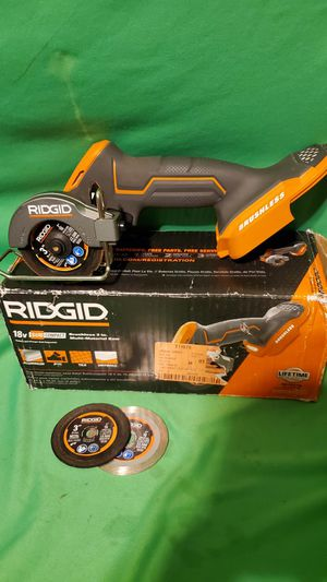 "RIDGID 18V SUB COMPACT BRUSHLESS 3"" MULTI-MATERIAL SAW IN THE BOX for Sale in Beaumont, CA"