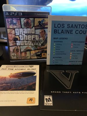 GRAND THEFT AUTO (GTA) V - PS3 *COMPLETE IN BOX WITH MAP* for Sale in Santee, CA