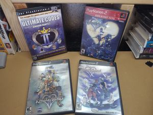 Kingdom Hearts Chain of Memories + I, II + Cheat Codes ( PlayStation 2, 2008) for Sale in Littlerock, CA