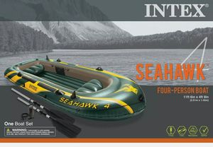 Intex Seahawk 4-person Inflatable boat. New and In Hand🔥🔥 for Sale in Glenview, IL