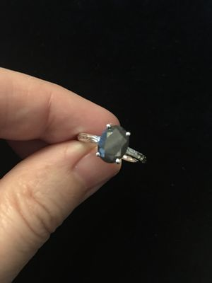 Natural silver sapphire sterling silver ring sz 5 for Sale in West Richland, WA