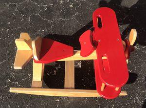 Heavy duty Wooden airplane rocker for Sale in West Palm Beach, FL