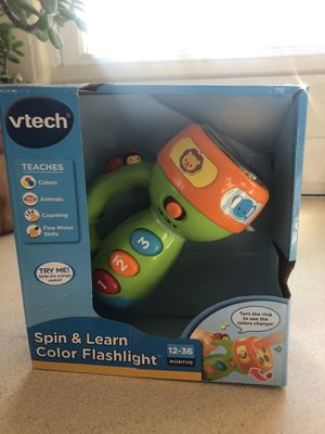 Vtech spin and learn color flashlight for Sale in Charlotte Court House, VA