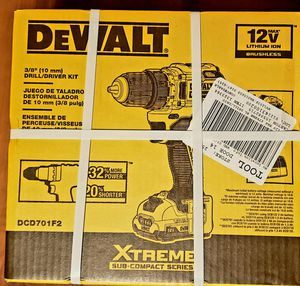 DEWALT DCD701F2 XTREME 12V MAX 3/8 IN. Li-Ion Drill / Driver KIT for Sale in Kirkland, WA