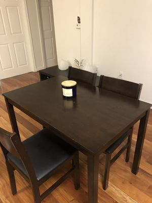 Dining table with three chairs for Sale in Charlottesville, VA