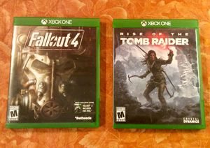 2 Xbox One Games (Prefect Condition) Fallout 4 and Rise of the Tomb Raider $19 Or Best Offer for Sale in Moreno Valley, CA