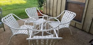 Outdoor Table and 4 chairs without glass top for Sale in Arlington, TX