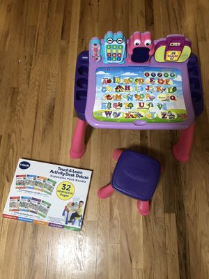 VTech Touch & Learn Activity Desk Deluxe and Expansion Pack Bundle for Sale in Seattle, WA