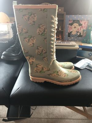 Floral Rain Boots size 10 for Sale in Philadelphia, PA