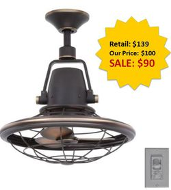 Bentley II 18 in. Indoor/Outdoor Tarnished Bronze Oscillating Ceiling Fan with Wall Control NEW for Sale in Fort Lauderdale,  FL