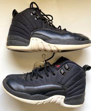Nike Air Jordan 12 XII Retro BG GS Size 6.5 Y Nylon Neoprene Black 153265-004 for Sale in Zachary, LA