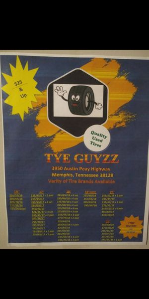 Call all car and truck tires on sale for $25$ call for Sale in Memphis, TN