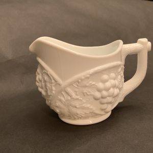 Vintage Duncan and Miller Grape Pattern Milk Glass Creamer for Sale in La Habra Heights, CA