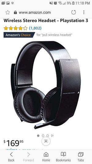 Playstation 3 wireless stereo headset for Sale in Vista, CA