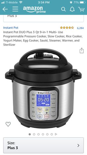 Instant pot duo plus 9 in 1 3quarts for Sale in Fountain Valley, CA