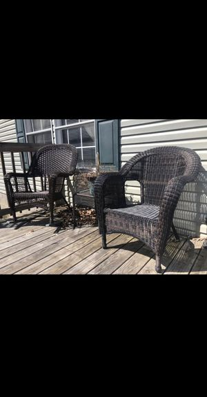 Outdoor chairs and table for Sale in Elkins, WV