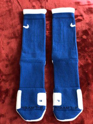 Nike Blue & White Dri-Fit Elite Socks Size Men's Shoe 8-12 for Sale in Fairfax, VA