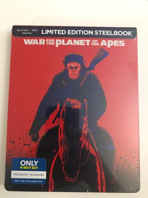 War For the Planet of the Apes limited edition steelbook for Sale in Darnestown, MD