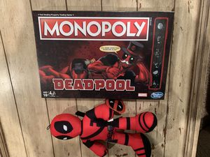 Deadpool monopoly with plush BRAND NEW SEALED for Sale in Corona, CA