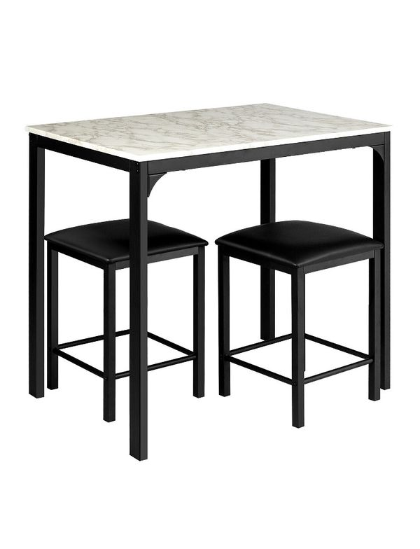 Costway 3 Piece Counter Height Dining Set