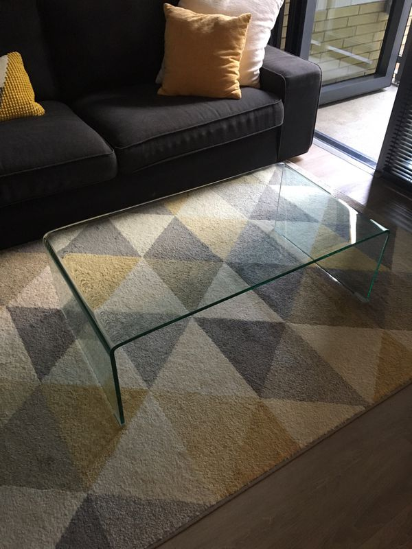 Clear Tempered Glass Coffee Table