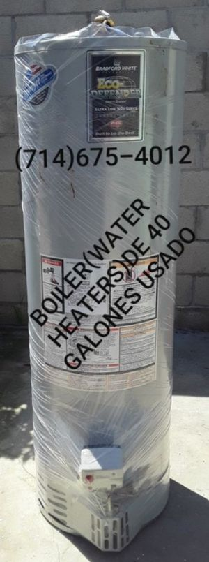 BOILER(WATER HEATERS)DE 40 GALONES USADO DE LA MARCA BRADFORD WHITE!!!!! for Sale in Santa Ana, CA