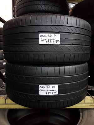(2) USED TIRES 255/35ZR19 CONTINENTAL CONTISPORTCONTACT 5P SSR 255/35R19 RUN FLAT 255 35 19 for Sale in Fort Lauderdale, FL