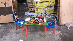 Disney Mickey Mouse Kids Table and Chair Set with Storage by Delta Children for Sale in Houston, TX