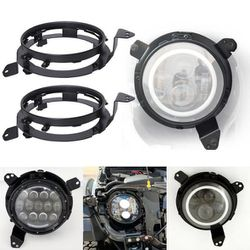 """7"""" 90W CREE LED Headlights With RGB Chasing Halo For 2018+ Jeep Wrangler JL for Sale in Fullerton,  CA"""
