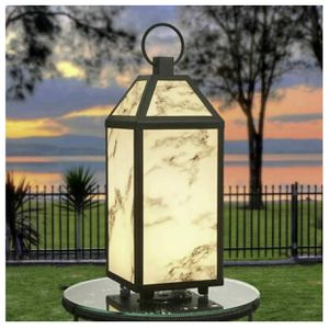 Brand new - Large Led marble art lantern indoor and outdoor for Sale in Garland, TX