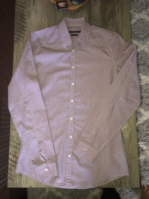 Gucci Men Button-Up Dressing Shirt   Slim   Red & Blue for Sale in Fontana, CA
