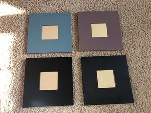 Wall decor 4 mirrored frames. 10✖️10 in each. for Sale in Hilliard, OH