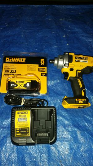 Dewalt Brushless XR 1/2 inch impact Wrench with 5ah XR Battery and charger for Sale in Evergreen, CO
