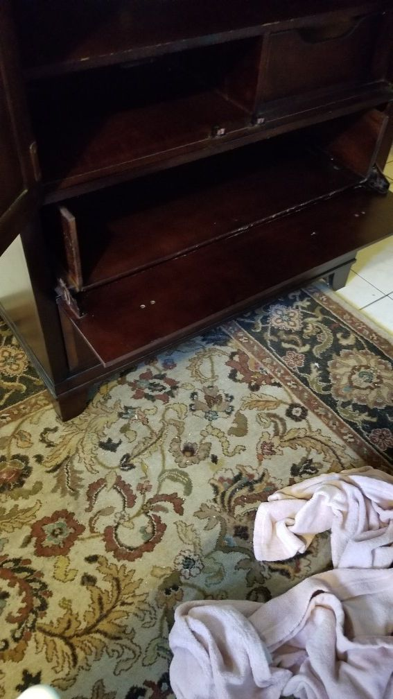 Armoire and matching end table