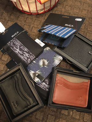 RVCA wallets, new! Orig. $24-$30. Only $10 each! for Sale in Rancho Santa Margarita, CA