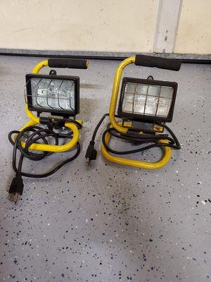 2 halogen lamps for Sale in Escondido, CA