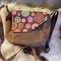 floral brown crossbody purse bag for Sale in Fresno,  CA