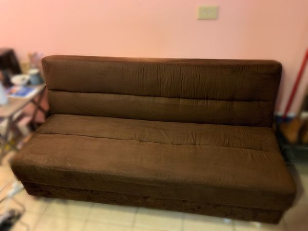 Brown Futon/ Couch Bed