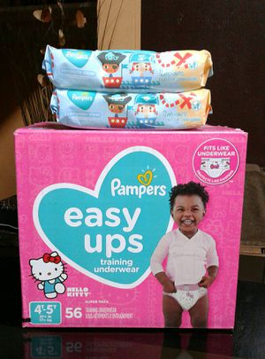 Pampers Easy ups 4t5t y wipes $26 for Sale in Gardena, CA