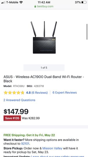 Asus dual band WiFi router for Sale in San Diego, CA