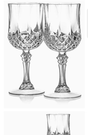 Reusable Elegant Plastic Crystal Drinkware For Wine, Juice, Champagne for Sale in Frederick, MD