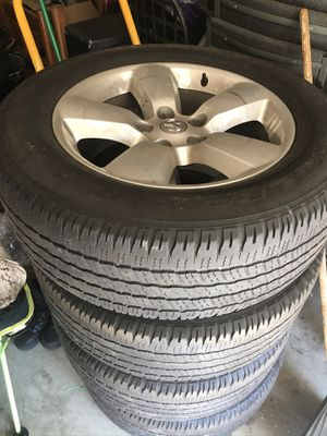Tires and rims for a dodge truck. Only want four fifty but will take four hundred. Rims are in great condition as well as tires. for Sale in Richmond, VA