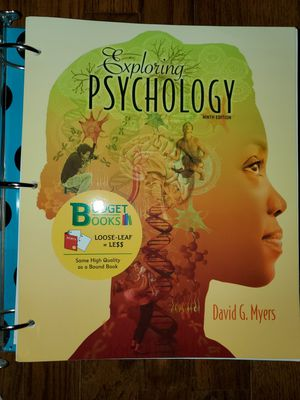 Exploring psychology ninth edition for Sale in Canoga Park, CA