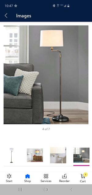 New Better Homes and Gardens SwingArm Floor Lamp..below retail price retails for $76 after tax selling for $50 for Sale in Hesperia, CA