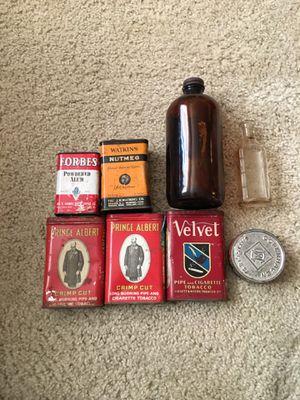 Antique Tins and Medicine Bottles for Sale in Henderson, NV
