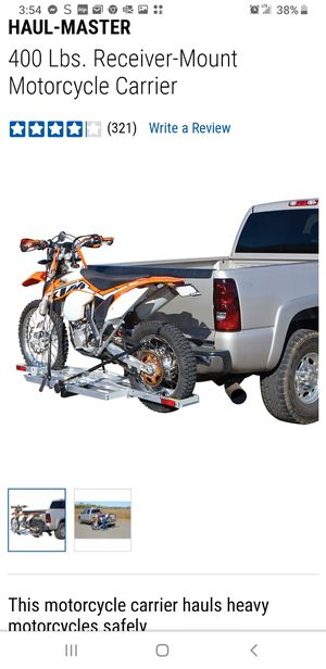 Hitch mount motorcycle carrier for Sale in Venice, FL