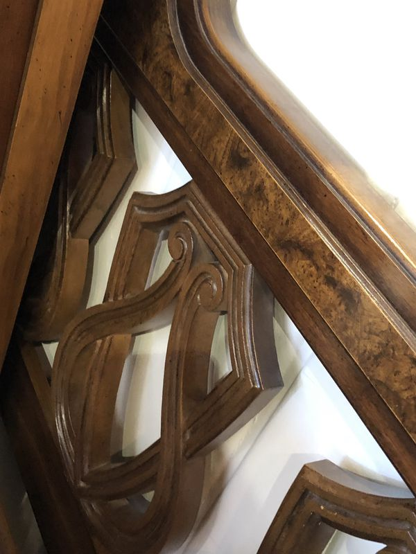 Solid wood full size bed oak