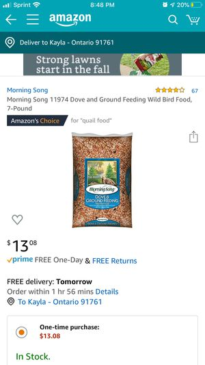Bird food for Sale in Ontario, CA