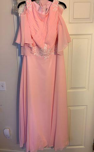 Bare shoulder, pink bridesmaid dress-14/16 for Sale in Brunswick, OH